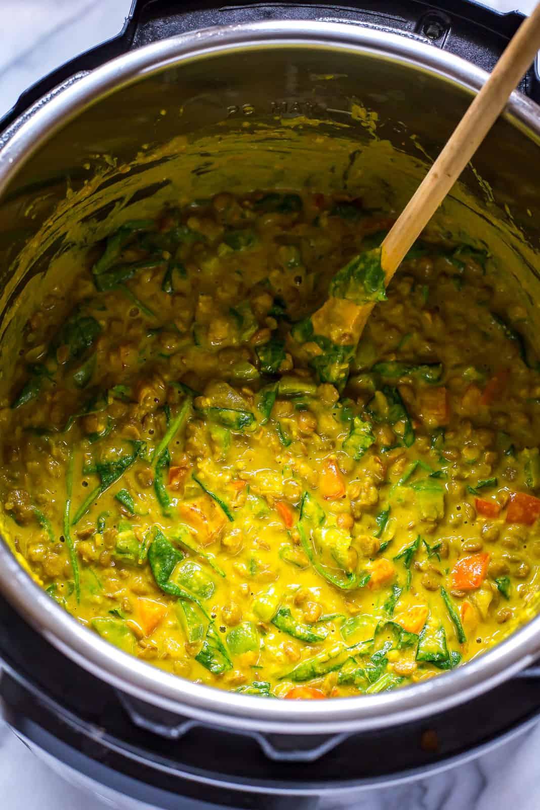 Instant Pot Dal (Curried Lentil Stew)