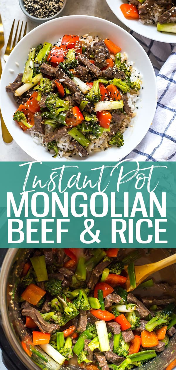 This Instant Pot Mongolian Beef is a 30-minute stir fry idea that's a great copycat version of the one from your favourite Chinese restaurant! #InstantPot #InstantPotBeef #MongolianBeef