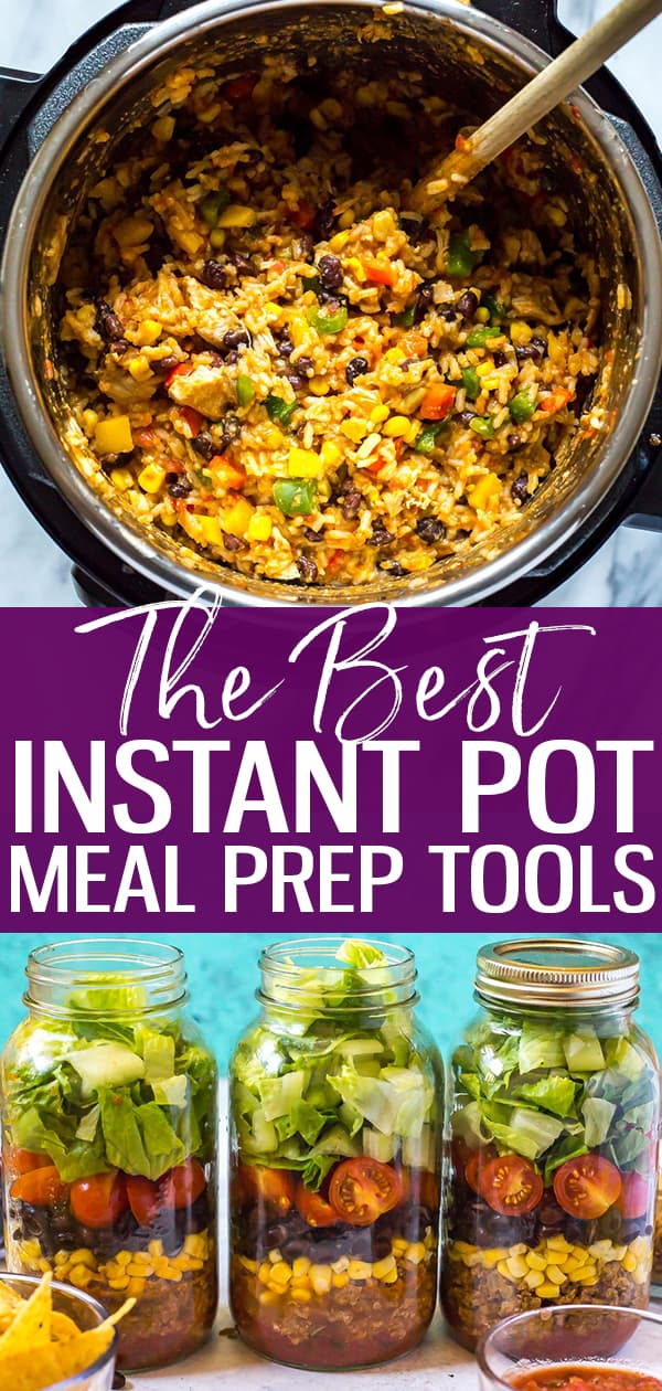 Here are the best ways to meal prep with the Instant Pot, including extra meal prep kitchen gadgets and tools that help me keep on track with my weekly meal planning and batch cooking! Say hello to healthy meals that will save you time and money with these kitchen tools!