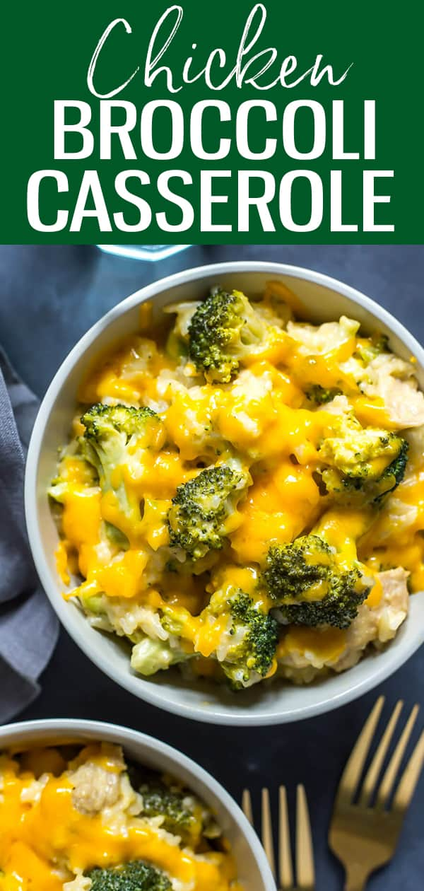ThisInstant Pot Healthy Chicken Broccoli Rice Casserole is a delicious, lighter version of the traditional cheesy rice dish, and it's made in the pressure cooker so it's a one-pot 30 minute dinner idea! #instantpot #chickenbroccoli #casserole