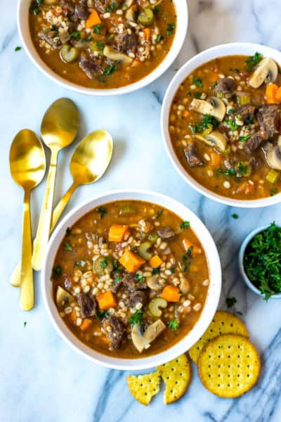 Instant Pot Beef Barley Soup