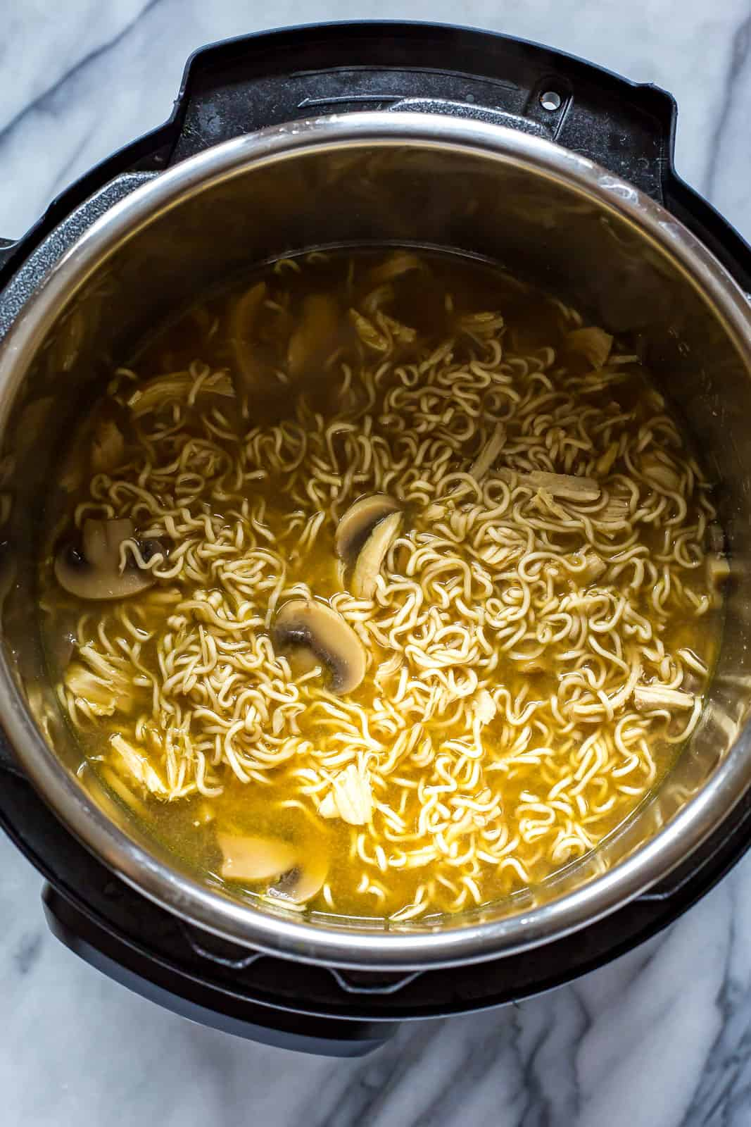instant pot ramen noodles with chicken  eating instantly
