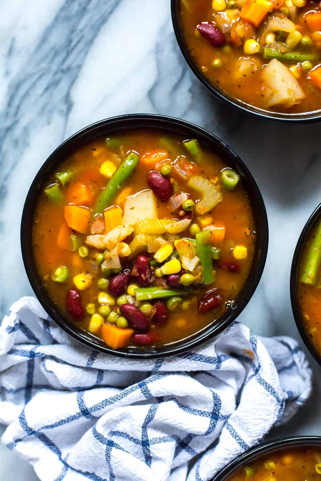 Instant Pot Vegetable Bean Soup