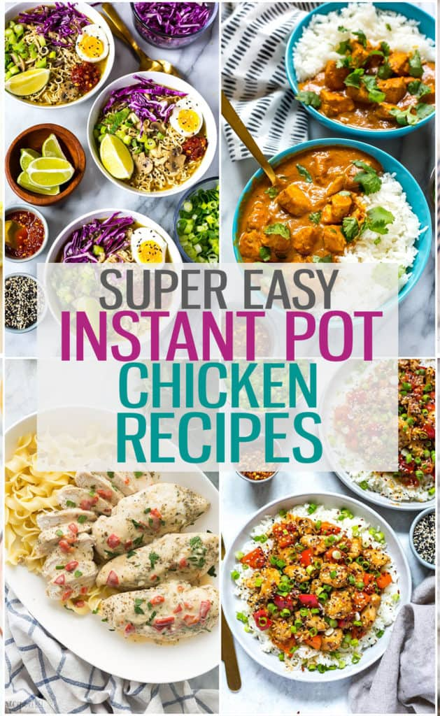 These Instant Pot chicken recipes will give you the inspiration to create healthy, flavourful chicken dinners in your pressure cooker! #instantpot #instantpotchicken