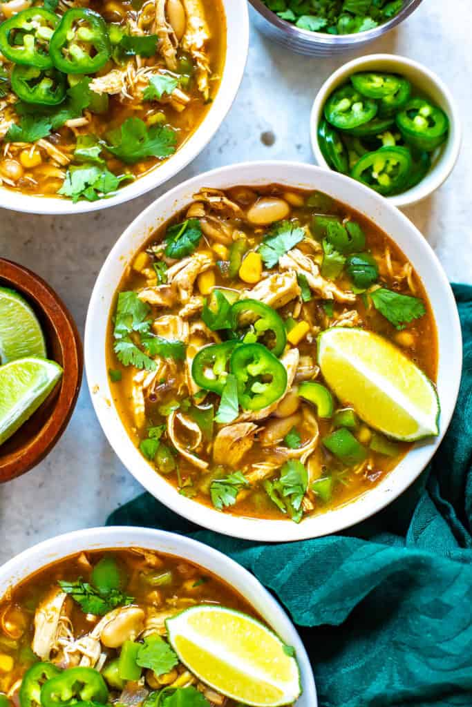 Instant Pot White Chicken Chili Eating Instantly