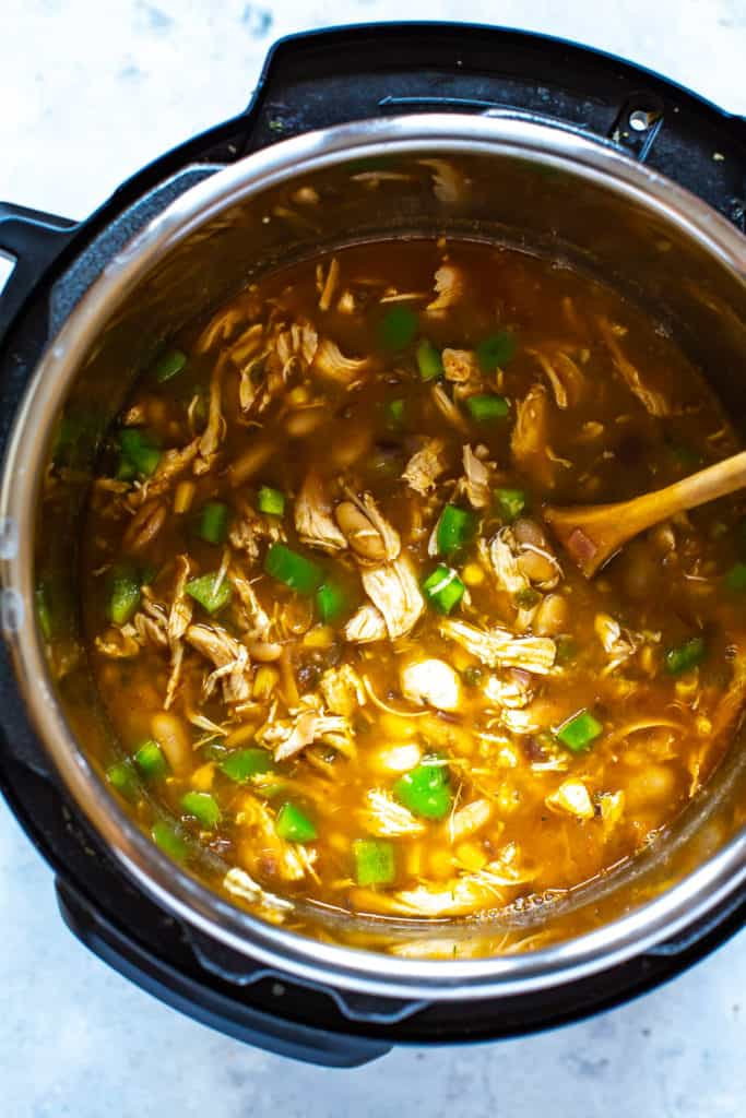 White Chicken Chili in an Instant Pot