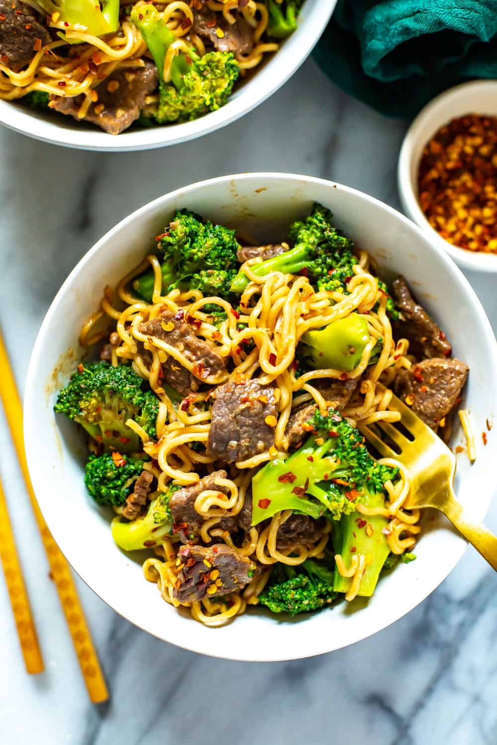 Beef and Broccoli Noodles Stir Fry Dinner