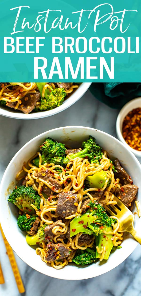titled photo (and shown): Instant Pot Beef Broccoli Ramen