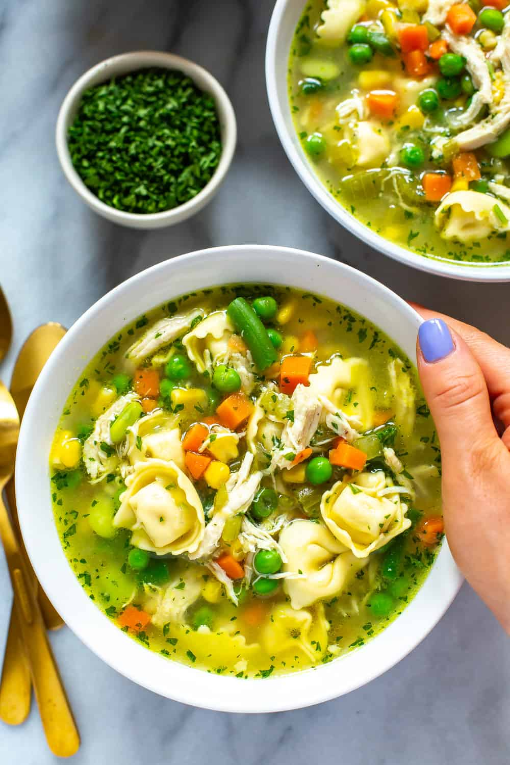 Instant Pot Chicken Tortellini Soup