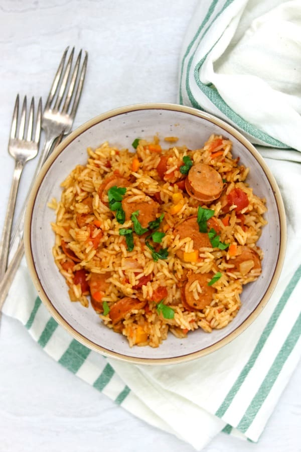Healthy Instant Pot Jambalaya in a bowl