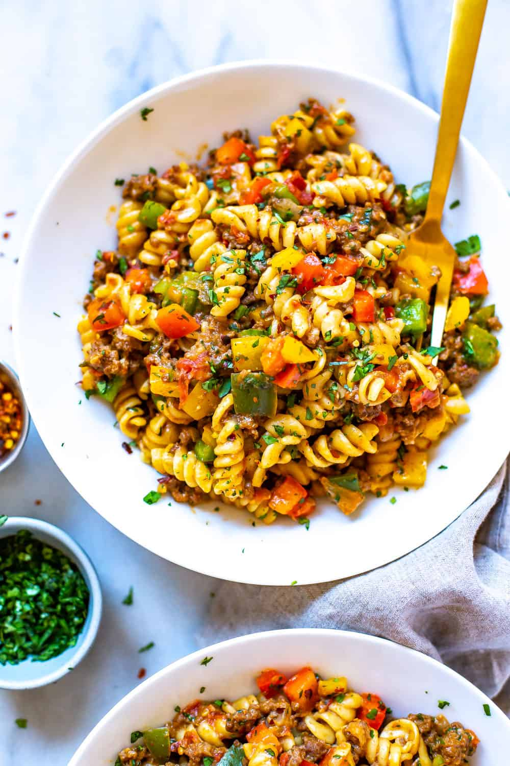 Instant Pot Taco Pasta Eating Instantly