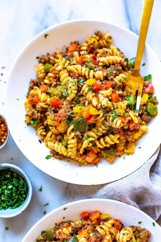 cheesy taco pasta dinner