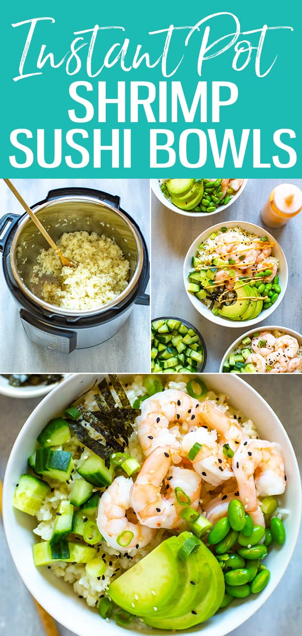 This Instant Pot Sushi Rice is the perfect way to cook Japanese short grain rice - get this foolproof recipe, along with an easy way to build your own sushi bowls! #sushibowls #instantpot #sushirice