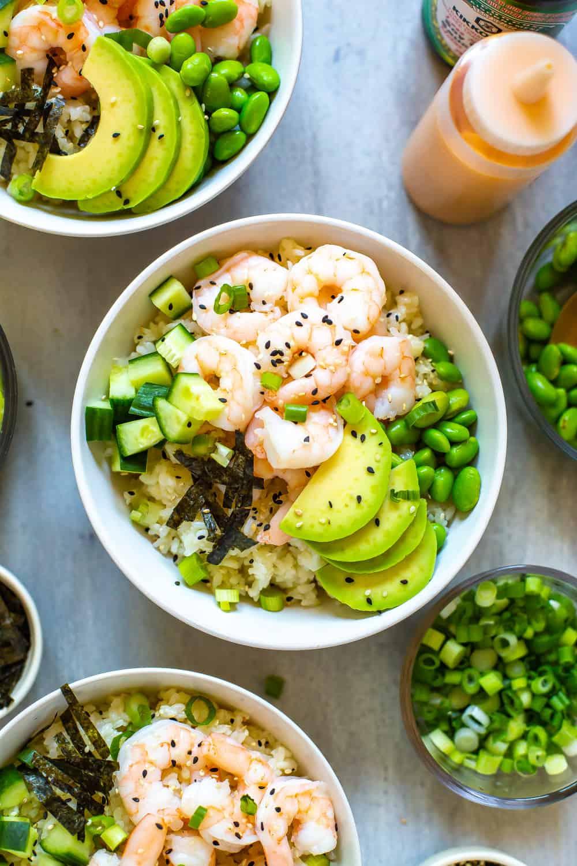 Instant Pot Shrimp Rice Bowls