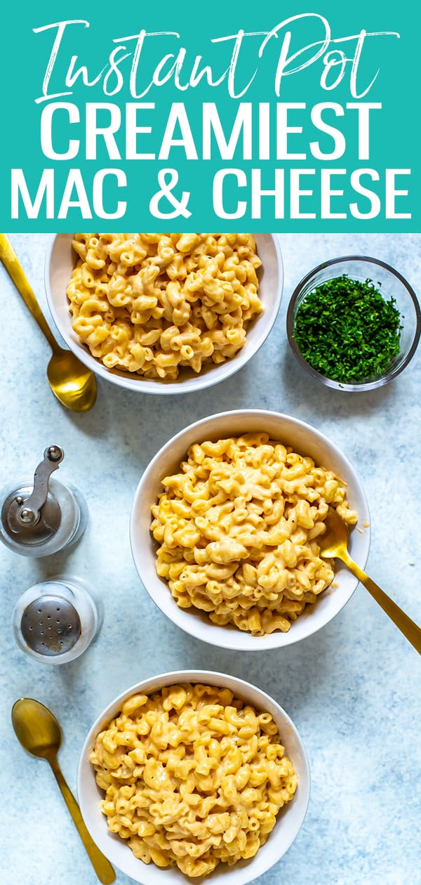 This Instant Pot Mac and Cheese is the very best out there! It's loaded with three types of cheese and is super velvety and creamy thanks to a few secret ingredients! #instantpot #macandcheese