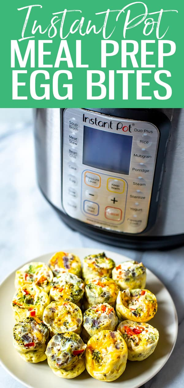 These Instant Pot Egg Bites are perfect for meal prep and only contain 5 ingredients - they are also easily customizable and are a grab and go breakfast! #instantpot #eggbites