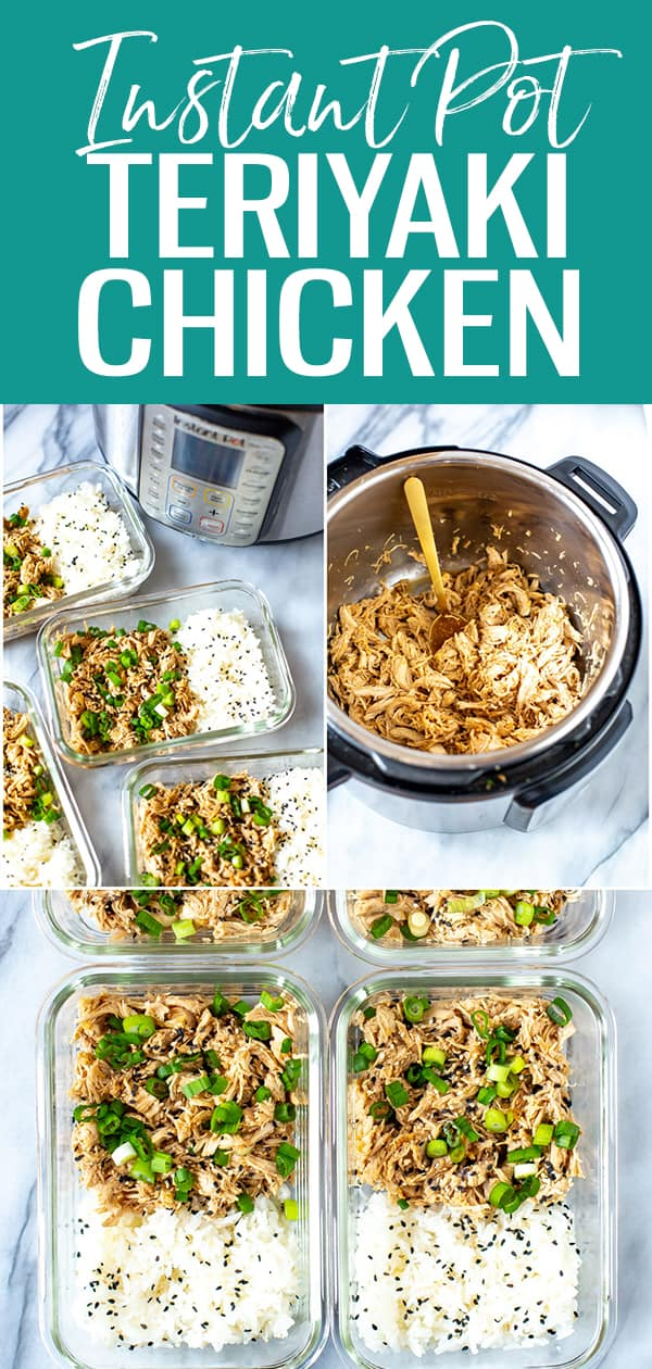 This Instant Pot Teriyaki Chicken is a quick and easy takeout fakeout, and all the sauce ingredients can be found in your pantry - just add rice and top with scallions! #instantpot #teriyakichicken