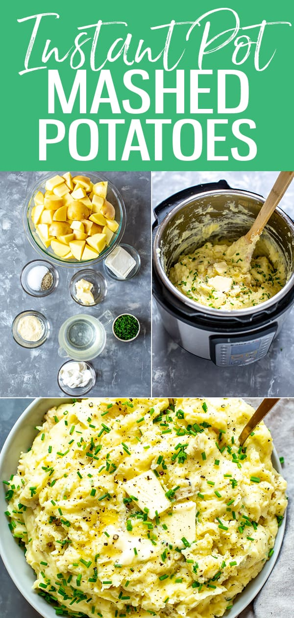 These Instant Pot Mashed Potatoes are the creamiest, most delicious mashed potatoes you'll ever eat - and they're ready in just 20 minutes thanks to your pressure cooker! #instantpot #mashedpotatoes