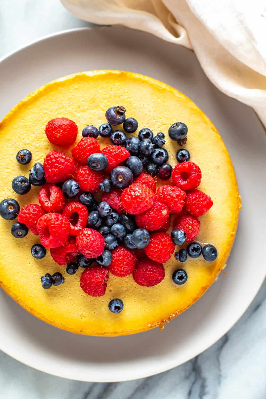 Healthier Instant Pot Cheesecake