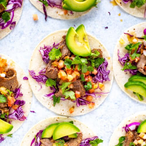 Instant Pot Flank Steak Tacos
