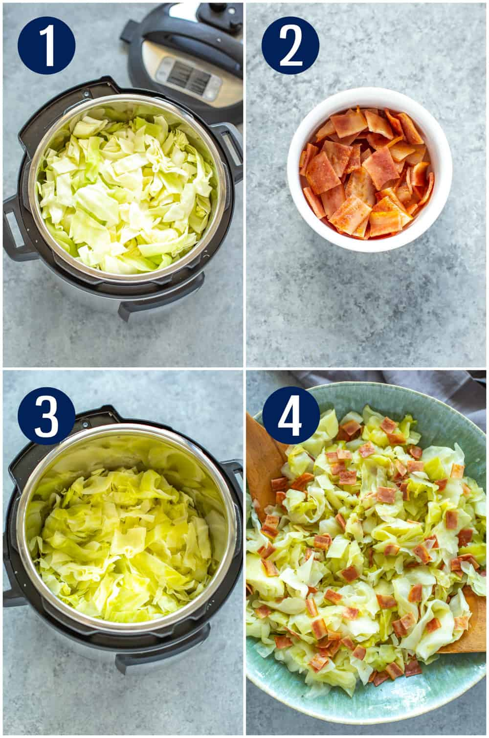 Instant Pot Cabbage and Bacon