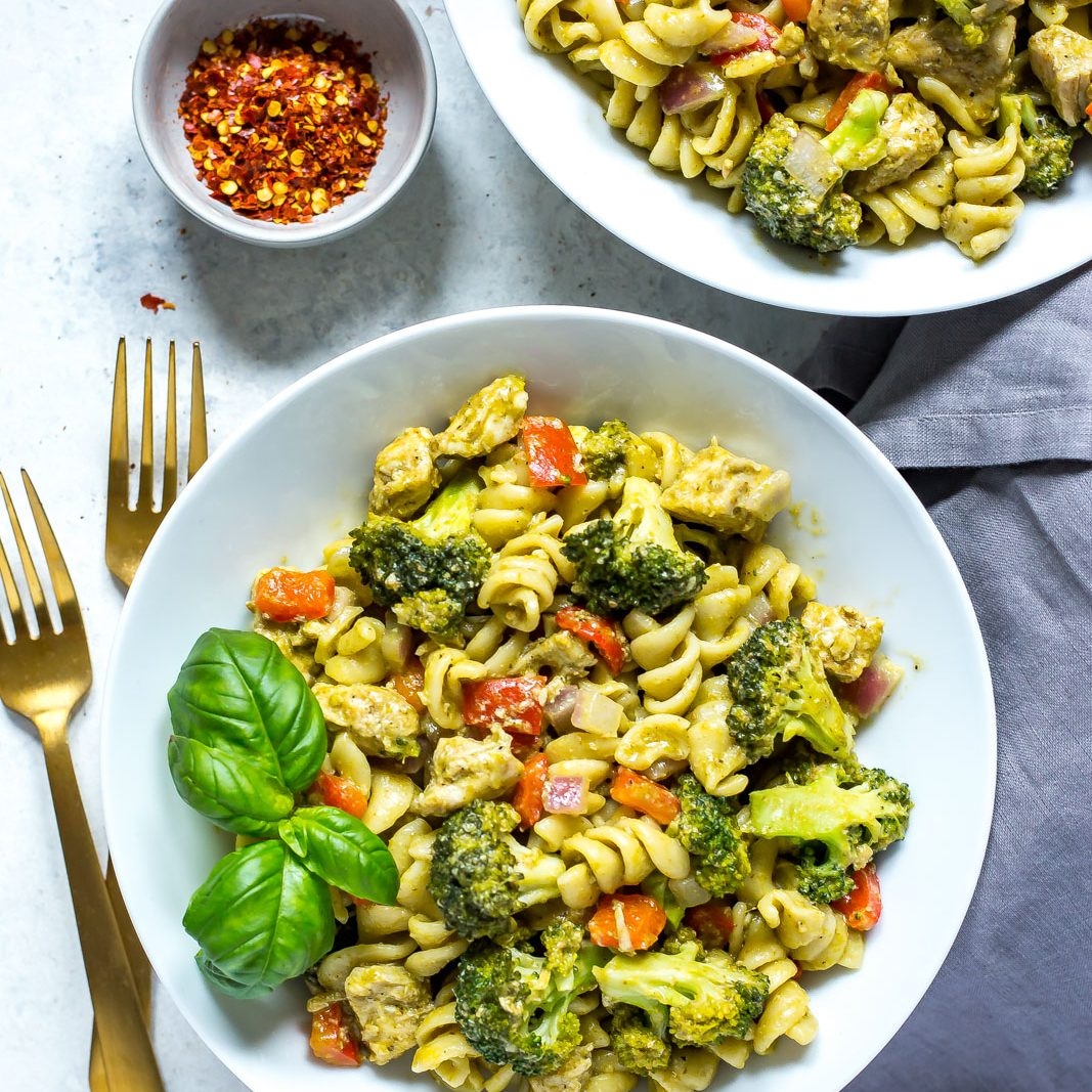 Instant Pot Chicken Pesto Pasta
